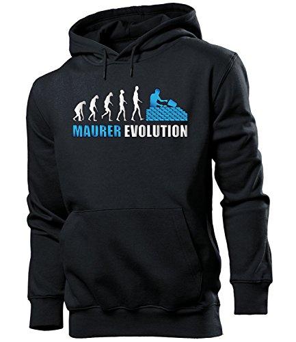 MAURER EVOLUTION 4580 Herren Hoodie (HKP-SW-Weiss-Blau) Gr. S