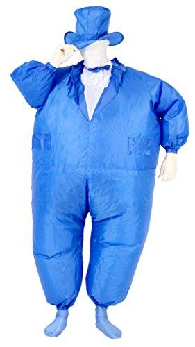 e Adult Chub Suit Costume (Blue) (Tuxedo Mask Halloween)
