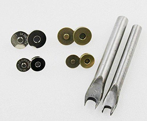 chengyida 40Sets (2Farbe, 2Größe) Magnetische Knöpfe Geldbörse Snap Verschlüsse/Schließung (14mm, 18mm) + 2Installation Tools - Magnetische Snaps Geldbörse Verschlüsse