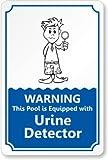 ACHTUNG, dieses Pool ist ausgestattet mit Urin Detektor Label, 25,4x 17,8cm