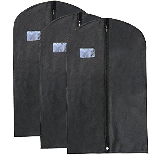 E2Buy® Ensemble de 3 Housses à vêtements, couvertures de protection à vêtement, non-tissés de haute qualité, housse de protection pour vêtements / cos...