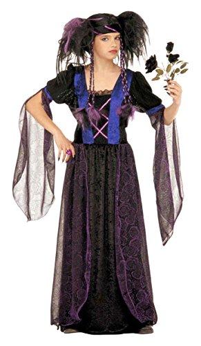 WIDMANN 37267-Kostüm 'Gothic Princess' in Größe 8/10Jahre