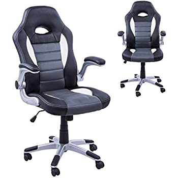 Homcom Racing Office Chair PU Leather Bucket Computer Chair Gaming ...