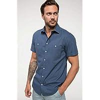 DeFacto Slim Fit Gömlek Mavi M