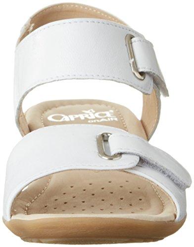 Caprice Damen 28705 Offene Sandalen mit Keilabsatz Weiß (WHITE NAPPA)