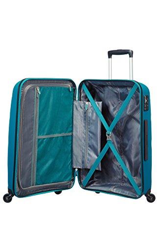 41KIX7A23VL - American Tourister Bon Air Spinner M Maletas y trolleys, 66 cm, 53 L, Azul (Azul)