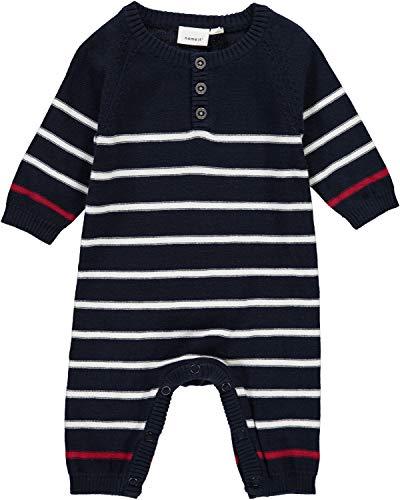 NAME IT Baby-Jungen Spieler NBMODIMS LS Knit Suit, Mehrfarbig (Dark Sapphire), 62