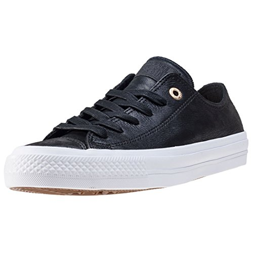 Converse Chuck Taylor All Star II Black Leather Trainers Nero
