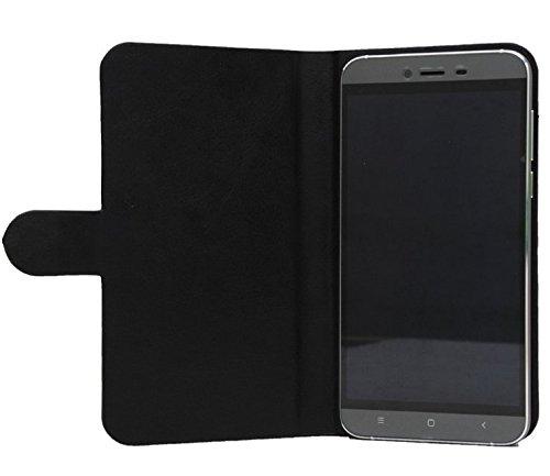 Prevoa ® 丨Flip PU Hülle Cover Case Schutzhülle Tasche für Ulefone Paris Arc HD 5.0 Zoll 4G Android 5.1 Smartphone - (Schwarz -)