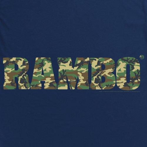Official Rambo Camo Logo T-Shirt, Herren Dunkelblau