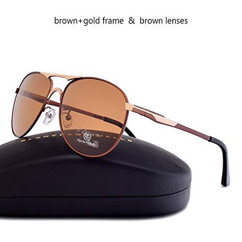 LXXSSRA Sonnenbrille Marke Classic Pilot Sonnenbrille Herren Polarized Uv400 Herren Sonnenbrille Male Driving Mirror Blue