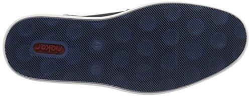 Rieker 17810, Polacchine Uomo Blu (ozean/amaretto / 14)
