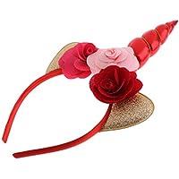 Baoblaze Cinta de Cabeza Unicornio Flor Rosa Fiesta Cumpleaños para Niños  Favores de Regalo Atrezo de 13c6fe4fd2b8