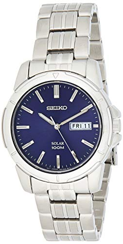 Seiko Herren Analog Quarz Uhr mit Edelstahl Armband SNE501P1