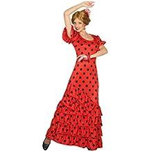 Atosa 16965–Flamenco de mujer, disfraz de mujer, M de l, 38/40, rojo