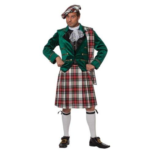 Schotte Kostüme Erwachsenen (Herren-Kostüm Schotte Angus, grün Gr.)