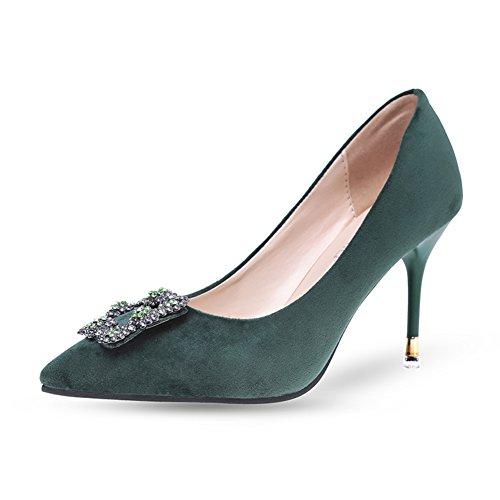 Fashion Lady chaussures de printemps/shallow pointes côté boucle high heels/Chaussures à talon C