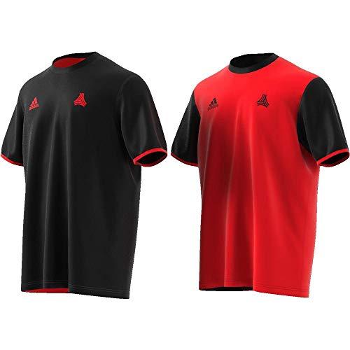 adidas Herren Tan Mw Reversible Jersey Trikot, Mehrfarbig (Black/Red), L -