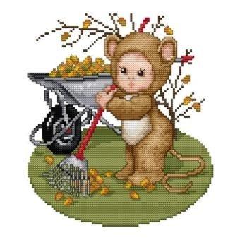 Ellen Maurer-Stroh | Kreuzstichvorlage Stickvorlage - Field Mouse Baby