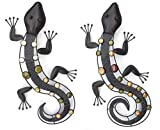 Gekko Gecko Eidechse Salamander NIZZA Wanddeko Eisen 52 cm