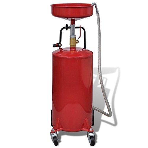 Portable Waste Oil Drain 20 Gallon Capacity Tank Air Operated w/ Wheels Hose