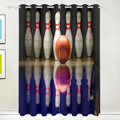 nkelungsfenster Vorhänge Tülle Oben wärmeisoliert Raum Verdunkelung drapieren für Schlafzimmer Wohnzimmer 55W x 84L Zoll, 2 Panels ()