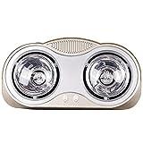 Riscaldatore di sauna a parete, riscaldatore da bagno portatile impermeabile con tre lampadine a infrarossi IC, senza ventola, protezione da surriscaldamento, 550W