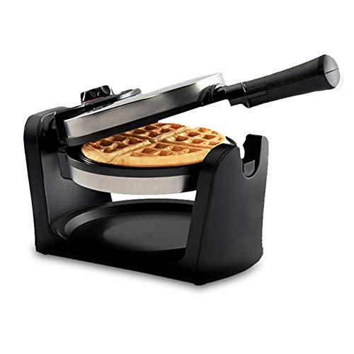 FJNS Macchina per Waffle,Macchina per cialde 950 W, Rotazione Multi-Funzione di 180 °, indicatore Luminoso Maker Waffel Controllo della Temperatura Regolabile Piastre Antiaderente
