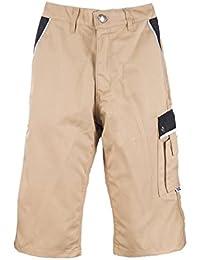 TMG® - Pantalones cortos cargo para hombre para trabajos de carpintería - Inspirados en la ropa militar - Caqui