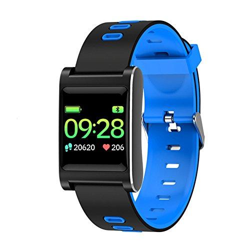 Sport Tracker Smart Armband, wasserdichte Sport Armband mit Funktionen von Fitness Uhr Blut Druck Herzfrequenz Monitor, Wetter, Musik Spielen, Fernbedienung Kamera etc, blau