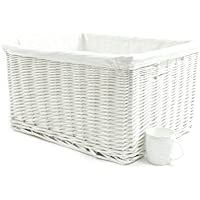 storage with handles The Pescara Collection Wide and shallow basket natural wicker colour small size 1 wicker with removable lining