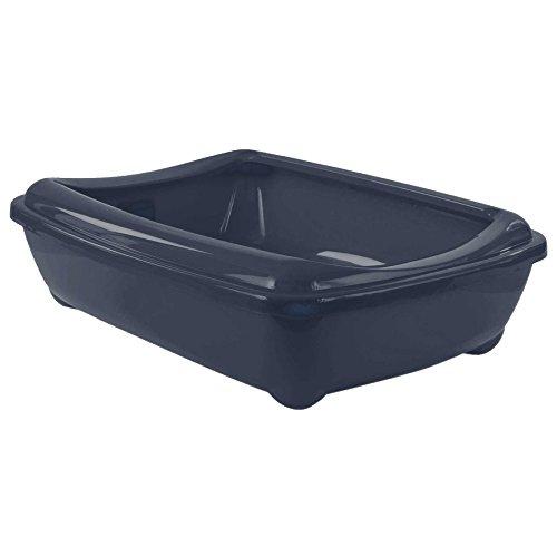 bleu-fonce-chat-moyen-bac-a-litiere-avec-rebord-42x31x13cm-6-couleurs-qualite-boite-plateau-toilette