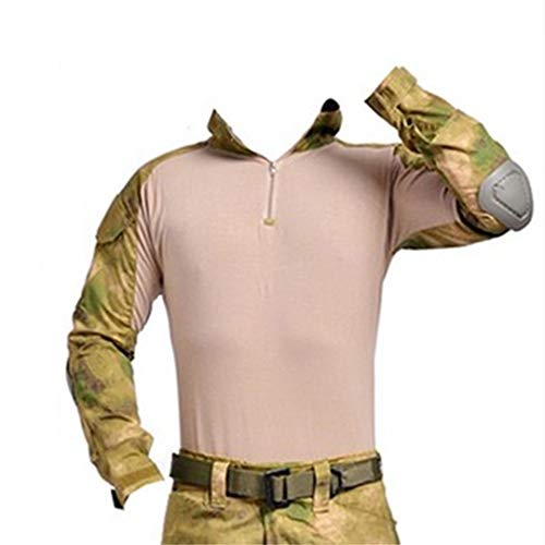 Militärische Multicam Army Combat Shirt Uniform Taktische Shirt mit Ellbogenschützer Camouflage Jagdkleidung Fg XXL -