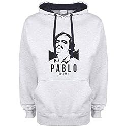 Narcos Pablo Escobar Season 2 Black By Dune gris / azul muy oscuro Qualità Superiore Sudadera con Capucha Unisex Large