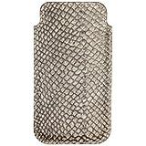 Lederhülle Apple iPhone 6, 6s und iPhone 7, Hellgrau / Natur, hangearbeitetes Sleeve aus exklusivem Lachsleder von Londine