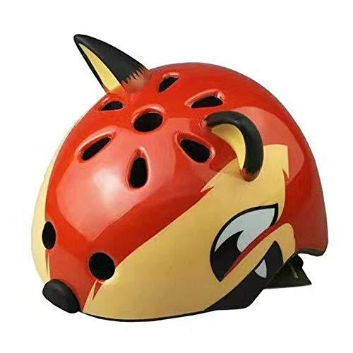 YUAND Kind Cartoon Tier Snowboard Helm Leichte Atmungsaktive Stoßfest Safty Hut Fox Muster Orange S (Helm Fox Snowboard)
