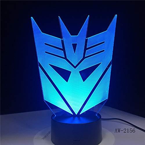 rakter junge geschenk transformatoren maske illusion schreibtisch tisch rgb led nachtlicht bunte lamparas lampe ()