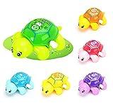 1PC Baby-Bad-Spielzeug Uhrwerk Schildkröte Wind Up Kettenbadewasserspielzeug Nettes Schwimmen Schildkröte Spielzeug für Baby-Kleinkind (Random)