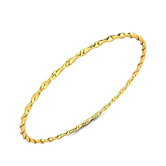 Candere By Kalyan Jewellers Contemporary Collection 22k Yellow Gold Charlene Bangle