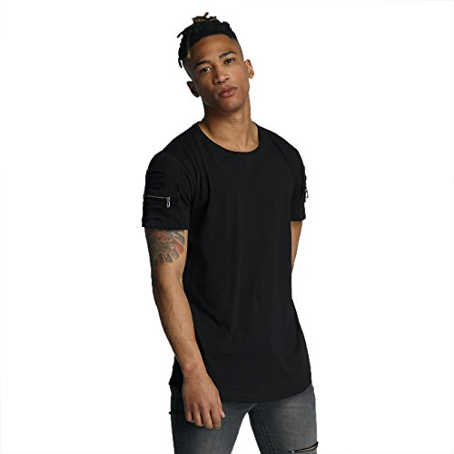 Bangastic Herren Oberteile / T-Shirt Zip Schwarz