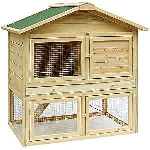 MyPets® Hasenstall KLOPFER XL Hamsterkäfig Kaninchenkäfig Hasenkäfig mit ausziehbarem Schubladen
