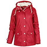 derbe Peninsula Cozy Winterjacke Damen (36, rot)