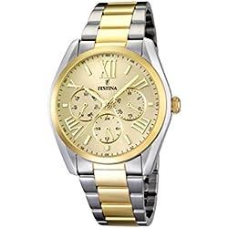 Festina F16751/2 - Reloj de pulsera hombre, acero inoxidable chapado, color