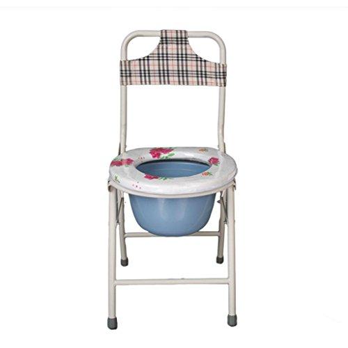 Seduta WC sedia metallo Spray plastica pieghevole anziana Mobile toilette