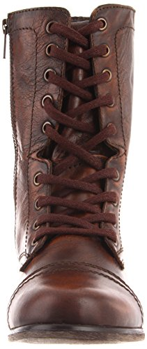 Steve Madden Troopa, Anfibi Donna Brown Leather