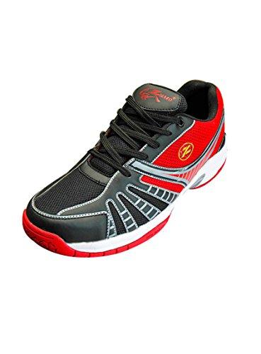 Zigaro Mens Badminton Shoes (7, BLACK)