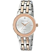 Anne Klein Women's Silver Dial Metal Band Watch - Ak1931Svrt, Rose Gold/Silver Band, Analog Display