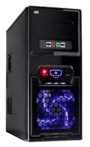 Fierce DEMON 8 Gaming PC Desktop Computer - Fast 3.8GHz Quad-Core AMD A-Series 9700, 1TB Hard Drive, 8GB of 2133MHz DDR4 RAM / Memory, AMD Radeon R7 Integrated Graphics, Gigabyte Ultra-Durable GA-A320M-S2H Motherboard, CiT 1017 Black Case/Blue Fans, HDMI, USB3, Wi - Fi, Perfect entry into PC Gaming, Windows 10 Compatible, 3 Year Warranty 199130