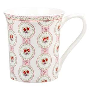 Churchill China Queens Cameo Tasse en porcelaine anglaise fine Motif nœuds et rubans Multicolore