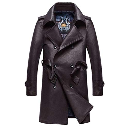 Betrothales Herren Coat Warm Jacken Bomberjacke Winterjacke Männer Elegant Kunstleder Winter Leder Ntel Parka Pu Leather Jacket Windbreaker...